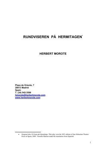 RUNDVISEREN PÅ HERMITAGEN* - Herbert Morote