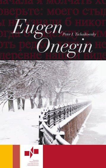Programmheft - Eugen Onegin - Theater Nordhausen
