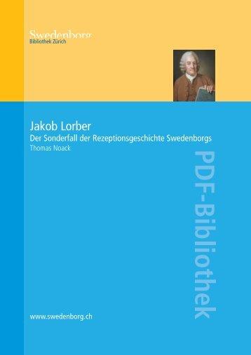 Jakob Lorber: Der Sonderfall der Rezeptionsgeschichte ... - Orah.ch
