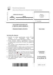 EGZAMIN MATURALNY Z JĘZYKA ROSYJSKIEGO ... - dlaStudenta.pl