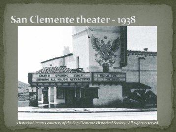 San Clemente's Historic Contexts - City of San Clemente