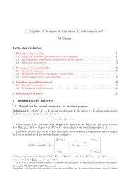 Chapitre II. Normes matricielles. Conditionnement