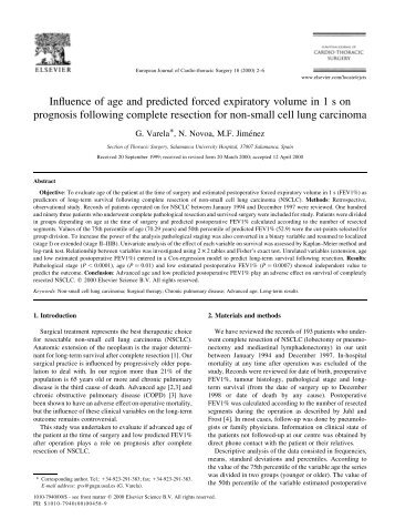Influence of age and predicted forced expiratory volume in 1 s on ...