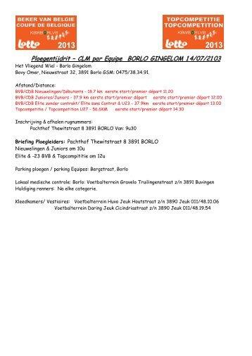 Info - Uitslagen KBWB
