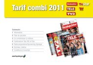 Tarif combi 2011