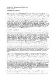 Reformatorische Impulse aus der Hebräischen Bibel