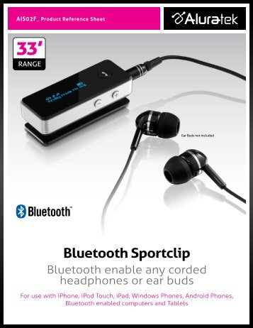 Bluetooth Sportclip - Aluratek