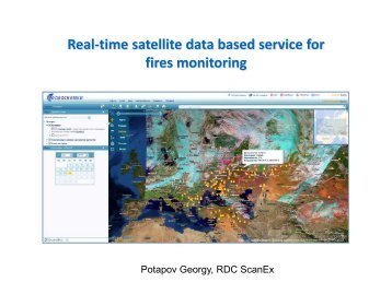Real-time satellite data based service for fires monitoring