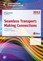 Printable PDFs - International Transport Forum's 2012 Summit