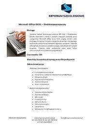 Microsoft Office EXCEL – Średniozaawansowany - img1.oferia.pl