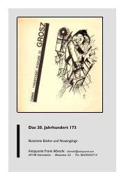 Das 20. Jahrhundert 173 - Antiquariat Frank Albrecht