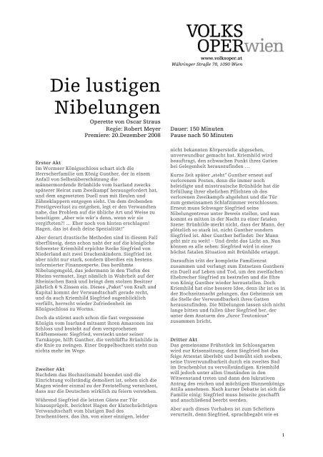 Inhaltsangabe auf Deutsch als PDF downloaden - Volksoper Wien