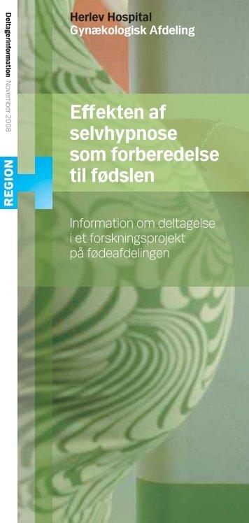 Information om deltagelse i et forskningsprojekt på ... - Herlev Hospital