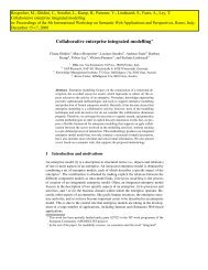 Collaborative enterprise integrated modelling* - Know-Center