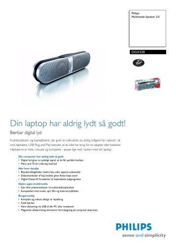 DGX320/00 Philips Multimedia Speaker 2.0