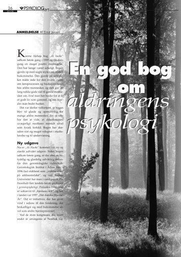 aldringens psykologi aldringens psykologi - Elbo