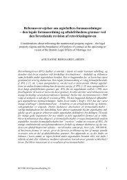 Reformovervejelser om ægtefællers formueordninger - Juridisk Institut