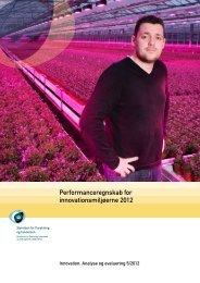 Performanceregnskab for innovationsmiljøerne 2012 - FOIN