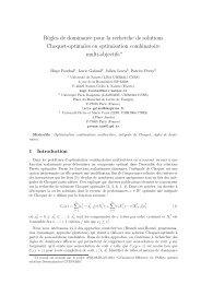 Règles de dominance pour la recherche de solutions Choquet ...