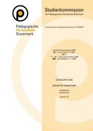 Download Curriculum HS - Studienbeginn ab WS 2011/12