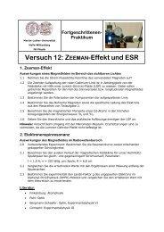Aufgabe - Positron Annihilation in Halle - Martin-Luther-Universität ...