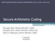 Secure Arithmetic Coding