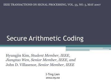 Secure Arithmetic Coding
