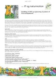 IT og naturmotion - Naturstyrelsen