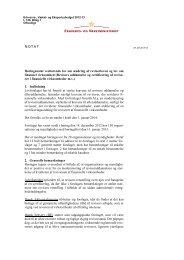 NOTAT Høringsnotat vedrørende lov om ændring ... - RegnskabsMail