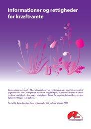 Informationer og rettigheder for kræftramte