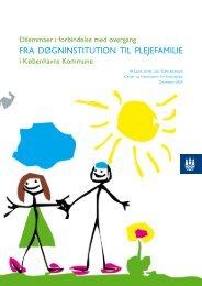 Overgang fra døgninstitution til plejefamilie - Center for Familiepleje