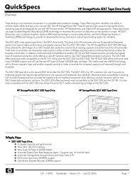 HP StorageWorks SDLT Tape Drive Family - VB