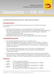 Newsletter ? KW 44 - Elektro-Innung Berlin