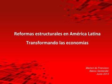 La agenda de Reformas estructurales en América Latina ... - Segib