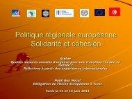 FONDS SOCIAL EUROPEEN - CMI