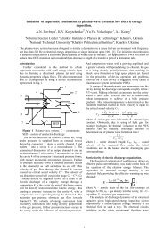 Initiation of supersonic combustion by plasma-wave system at low ...
