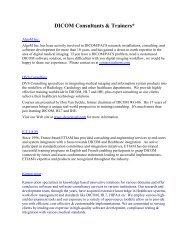 DICOM Consultants & Trainers - Dicom - NEMA