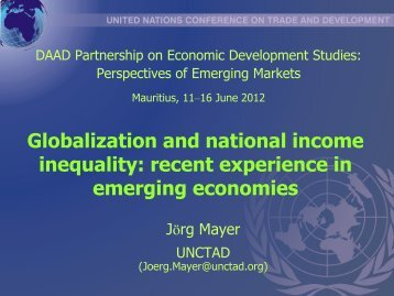 Globalization and national income inequality - DAAD partnership on ...