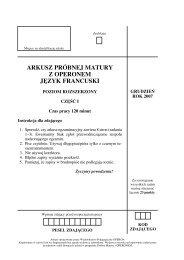arkusz próbnej matury z operonem j¢zyk francuski - Gazeta.pl
