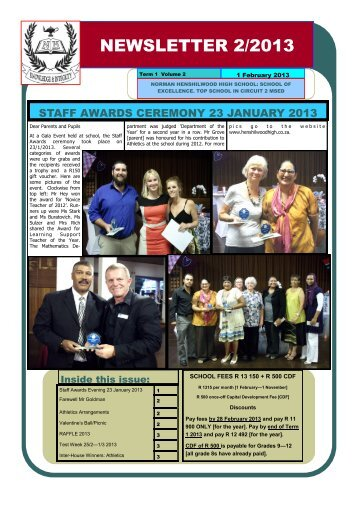 NEWSLETTER 2/2013 - Norman Henshilwood High School