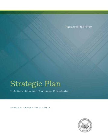 Strategic Plan - Securities and Exchange Commission