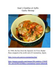 Juan's Gambas al Ajillo Garlic Shrimp - The Geriatric Gourmet
