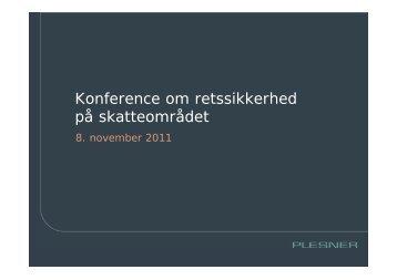 Konference om retssikkerhed på skatteområdet - Danske Advokater