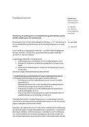 Til samtlige kommuner m.fl. Orientering om ... - Danske Ældreråd