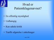 10.00 Klagesager i obstetrikken Ldn. ovl., Dr.med. Carsten Lenstrup ...