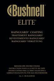 Elite RS Inst. Manual 09/02 - Bushnell