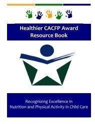 Healthier CACFP Award Resource Book - Wyoming Department of ...
