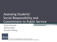 Assessing Students - Higher Education Research Institute - UCLA