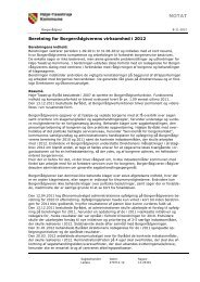 Beretning for Borgerrådgiverens virksomhed i 2012 - Høje-Taastrup ...