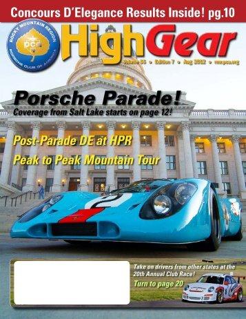 Porsche Parade! - Rocky Mountain Region Porsche Club - Porsche ...